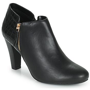 Cipők Női Bokacsizmák Moony Mood PERRINE Fekete