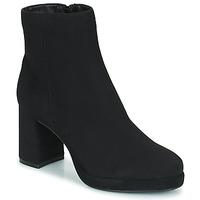 Cipők Női Bokacsizmák Moony Mood PORTUNA Fekete