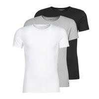 Ruhák Férfi Rövid ujjú pólók Tommy Hilfiger STRETCH TEE X3 Fehér / Szürke / Fekete