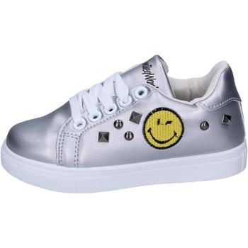 Cipők Lány Rövid szárú edzőcipők Smiley Tornacipő BJ987 Ezüst
