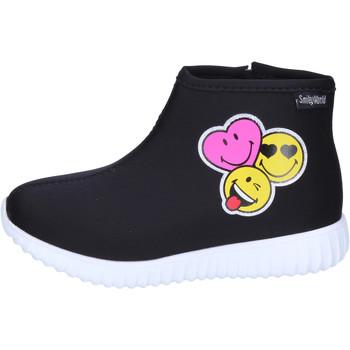 Cipők Lány Bokacsizmák Smiley Bokacsizma BJ989 Fekete