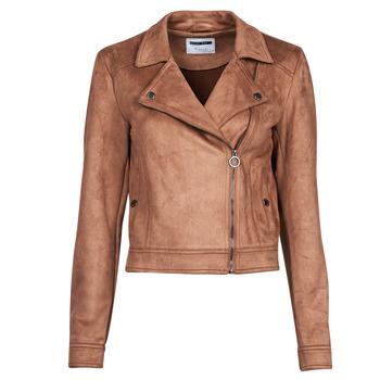 Ruhák Női Bőrkabátok / műbőr kabátok Noisy May NMROCKY Konyak