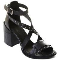 Cipők Női Félcipők Rebecca White T0501 |Rebecca White| D??msk?? sand??ly na vysok??m podpatku z ?ern??