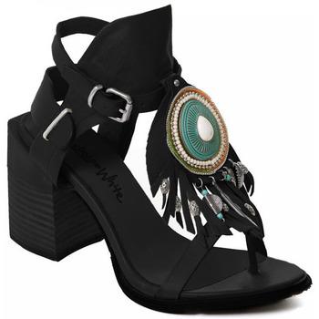 Cipők Női Félcipők Rebecca White T0509 |Rebecca White| D??msk?? sand??ly na vysok??m podpatku z ?ern??