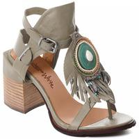 Cipők Női Félcipők Rebecca White T0509 |Rebecca White| D??msk?? sand??ly na vysok??m podpatku z hov??z?