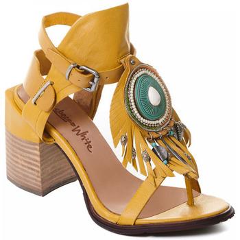 Cipők Női Félcipők Rebecca White T0509 |Rebecca White| D??msk?? sand??ly na vysok??m podpatku z okrov??