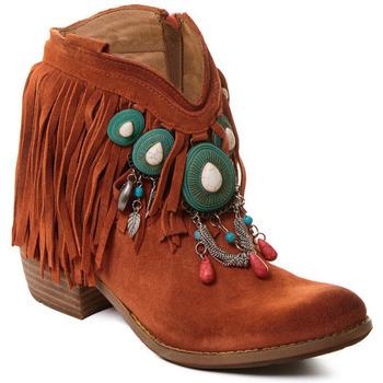 Cipők Női Bokacsizmák Rebecca White T0601B |Rebecca White| D??msk?? ko?en?? kotn??kov?? boty s kor??lovou k