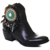 Cipők Női Bokacsizmák Rebecca White T0605 |Rebecca White| D??msk?? ?ern?? ko?en?? kotn??kov?? boty s bloko