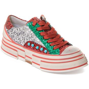 Cipők Női Divat edzőcipők Rebecca White T2208 |Rebecca White| D??msk?? st???brn??/?erven??/zelen?? t?pytiv?? t