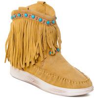 Cipők Női Bokacsizmák Rebecca White T6016 Citromsárga