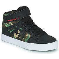 Cipők Fiú Magas szárú edzőcipők DC Shoes PURE HIGH-TOP EV Fekete  / Álcáz