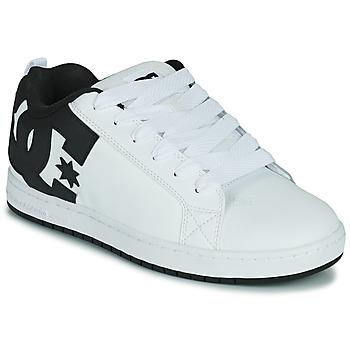 Cipők Férfi Deszkás cipők DC Shoes COURT GRAFFIK Fehér / Fekete