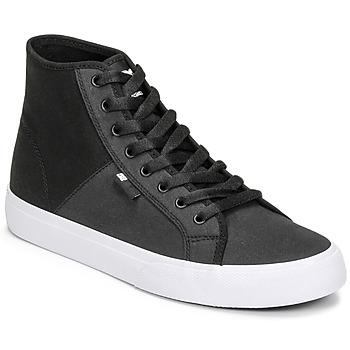 Cipők Férfi Magas szárú edzőcipők DC Shoes MANUAL HI TXSE Fekete  / Fehér