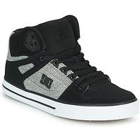 Cipők Férfi Magas szárú edzőcipők DC Shoes PURE HIGH-TOP WC Fekete  / Szürke