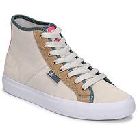 Cipők Női Magas szárú edzőcipők DC Shoes MANUAL HI SE Bézs