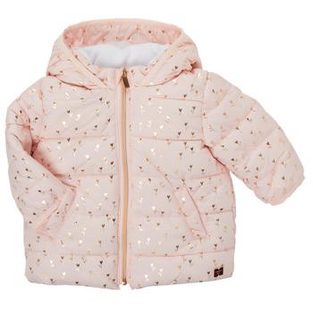 Ruhák Lány Steppelt kabátok Carrément Beau ACAJOU Rózsaszín