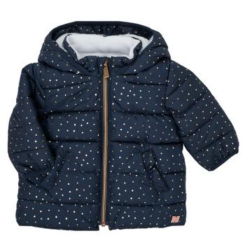 Ruhák Lány Steppelt kabátok Carrément Beau AIGUE-MARINE Tengerész