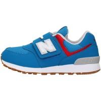 Cipők Fiú Rövid szárú edzőcipők New Balance PV574BWV BLUE