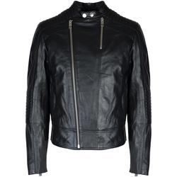 Ruhák Férfi Bőrkabátok / műbőr kabátok Les Hommes  Fekete