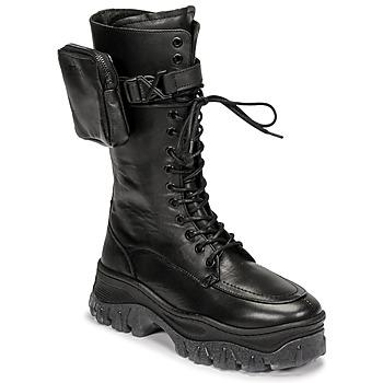 Cipők Női Csizmák Bronx JAXSTAR HIGH Fekete