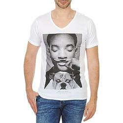 Ruhák Férfi Rövid ujjú pólók Eleven Paris WOLY M Fehér
