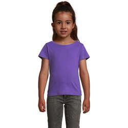 Ruhák Lány Rövid ujjú pólók Sols CHERRY Morado Oscuro Violeta