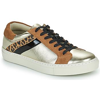 Cipők Női Rövid szárú edzőcipők Betty London PITINETTE Arany