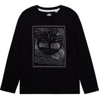 Ruhák Fiú Hosszú ujjú pólók Timberland AIFRET Fekete