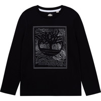 Ruhák Fiú Hosszú ujjú pólók Timberland BAGIRI Fekete