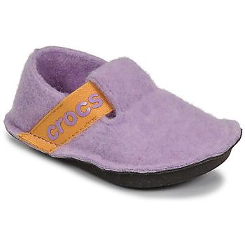 Cipők Lány Mamuszok Crocs CLASSIC SLIPPER K Lila / Citromsárga