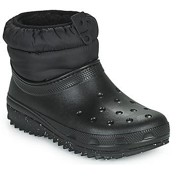 Cipők Női Hótaposók Crocs CLASSIC NEO PUFF SHORTY BOOT W Fekete