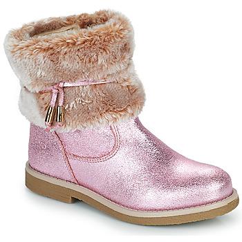 Cipők Lány Csizmák Citrouille et Compagnie PAKRETTE Rózsaszín / Irizáló