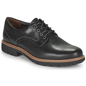 Cipők Férfi Oxford cipők Clarks Batcombe Hall Fekete