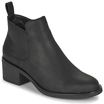 Cipők Női Bokacsizmák Clarks MEMI ZIP Fekete