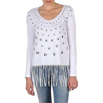 Ruhák Női Hosszú ujjú pólók Manoush TUNIQUE LIANE Fehér