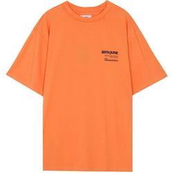 Ruhák Férfi Rövid ujjú pólók Sixth June T-shirt  barcode orange