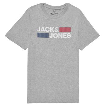 Ruhák Fiú Rövid ujjú pólók Jack & Jones JJECORP LOGO TEE SS Szürke
