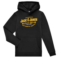 Ruhák Fiú Pulóverek Jack & Jones JJELOGO SWEAT HOOD Fekete