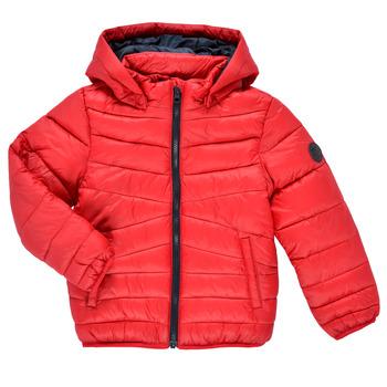 Ruhák Fiú Steppelt kabátok Name it NMMMOBI JACKET Piros