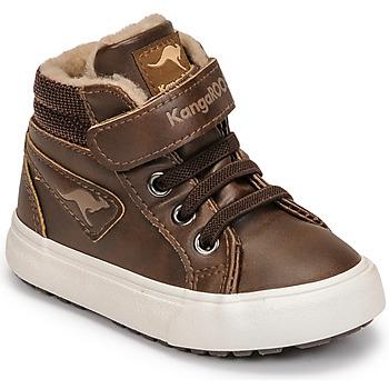 Cipők Fiú Magas szárú edzőcipők Kangaroos KAVU III Barna