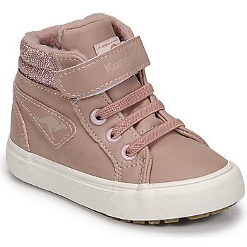 Cipők Lány Magas szárú edzőcipők Kangaroos KAVU III Rózsaszín