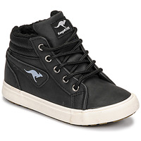 Cipők Fiú Magas szárú edzőcipők Kangaroos KAVU I Fekete