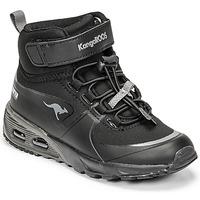 Cipők Fiú Magas szárú edzőcipők Kangaroos KX-HYDRO Fekete