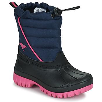 Cipők Lány Hótaposók Kangaroos K-BEN Kék / Rózsaszín