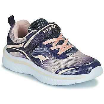 Cipők Lány Rövid szárú edzőcipők Kangaroos K-MAID GLEAM EV Kék / Ezüst