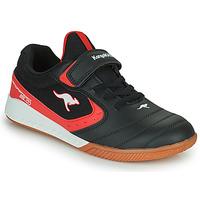 Cipők Gyerek Rövid szárú edzőcipők Kangaroos K5-COURT EV Fekete  / Piros
