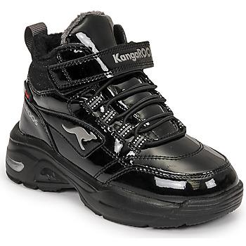Cipők Lány Magas szárú edzőcipők Kangaroos KC-ICY EV RTX Fekete