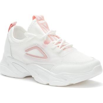 Cipők Női Rövid szárú edzőcipők Crosby White Casual Trainers White