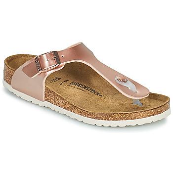 Cipők Lány Lábujjközös papucsok Birkenstock GIZEH Rózsaszín / Arany
