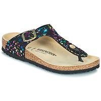 Cipők Lány Lábujjközös papucsok Birkenstock GIZEH Fekete  / Sokszínű